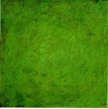 Jasper Johns Green Target 1955 Encaustic and collage on canvas 152.4 x 152.4 cm (60 x 60 in) The Museum of Modern Art, New York