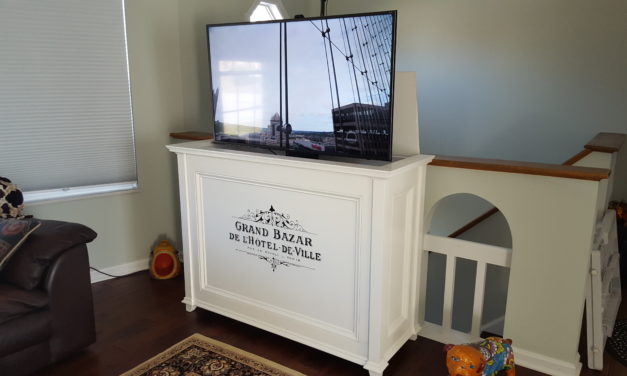 TV Lift Cabinet /Blanket Chest by Eric MacMillen