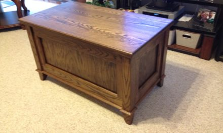 Oak Blanket Chest by Mike Mantooth