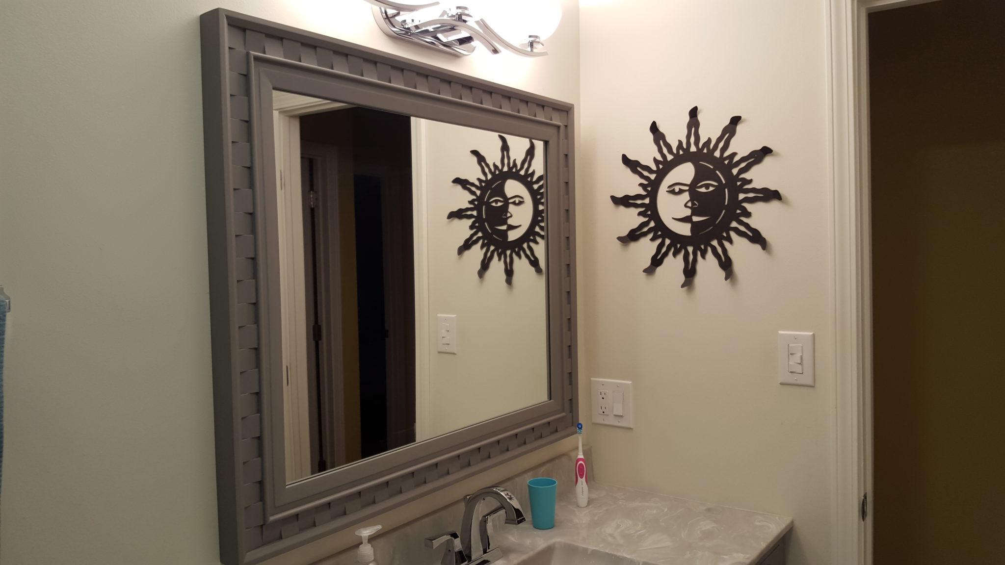 Vanity Mirror on French Cleat by Abelardo Chavez