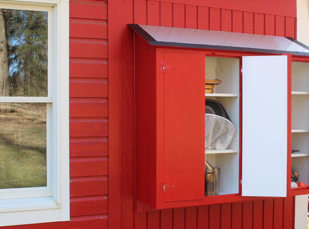 Build a small tool shed gardening cabinet jon peters art home - Build toolshed protect gardening tools ...