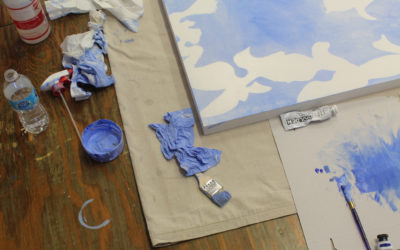 The Last Step on This Big Painting – Triptych