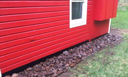 Placing Peanut Stone / Rocks around the Barn Foundation