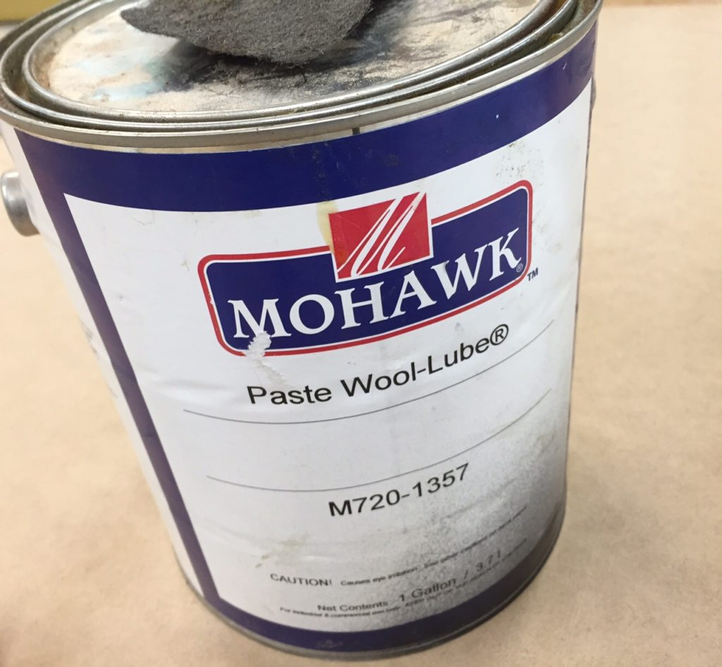 Mohawk Wool Lube that I use in addition to Waterlox in finishing fine furniture