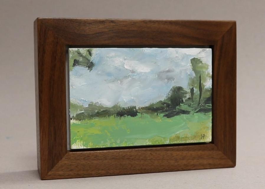 Make Tiny Painting & Build Walnut Frame