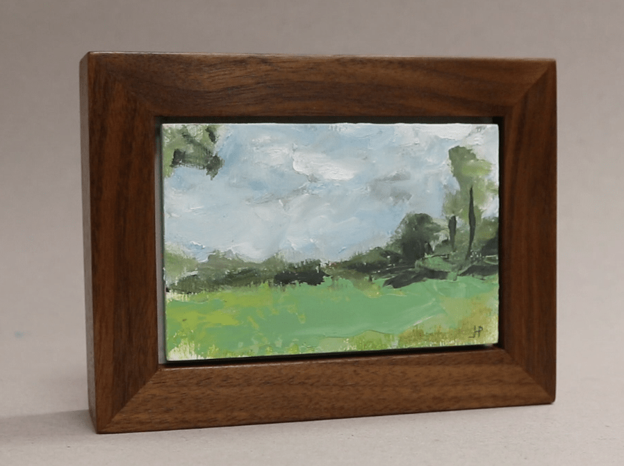 Make Tiny Painting & Build Walnut Frame - Jon Peters Art & Home