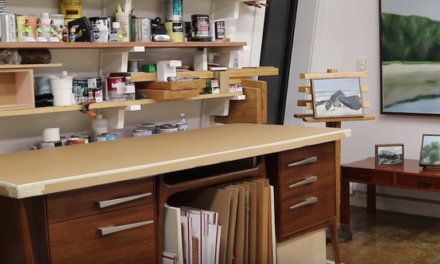 How To Repurpose A Desk – Mobile Work Table with Storage