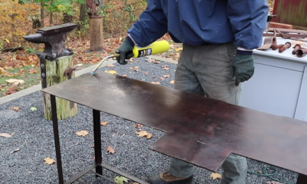 How To Burn in a Beeswax Finish on a Steel Table
