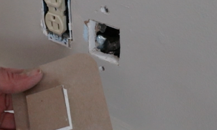Simple Sheetrock Repair -How to Make a Blow Out Patch