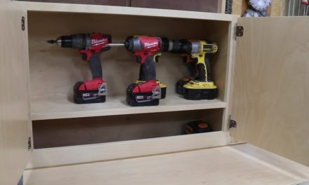 Cordless Tool Charging Station, Shop Cabinet