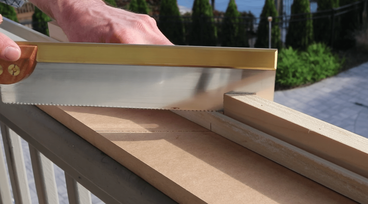 Quick and Dirty Miter Box, Miter Saw