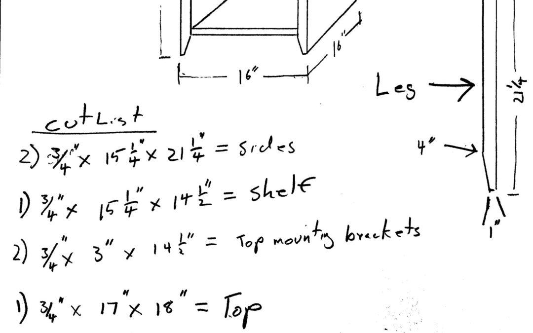 Bedside Table – Design Plans