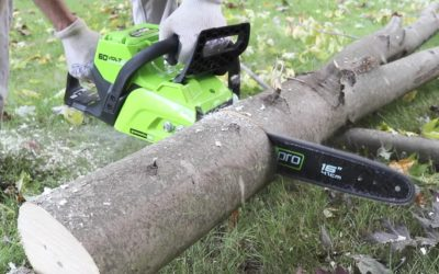 Testing a 60 Volt Battery Powered Cordless Chainsaw