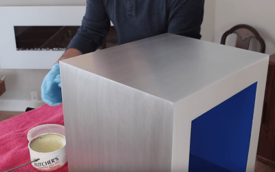 Finishing an Aluminum Cocktail Table with Butcher's Bowling Alley Way – Fixing a Finish Failure