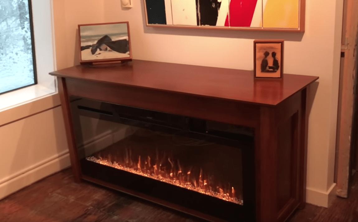 Double Sided Fireplace Cabinet