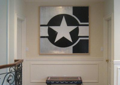 Black Star, 2005. Enamel on aluminum 54 x 54