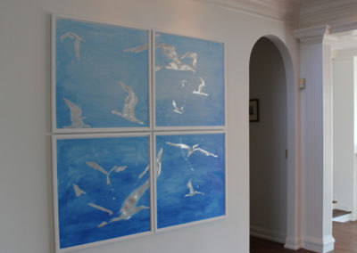 Gulls. acrylic and aluminum on paper 72 x72