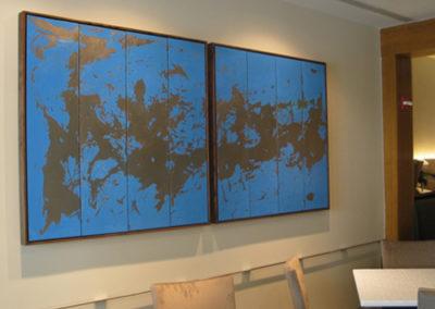 Mistral, 2008. Enamel on steel 47 x 98