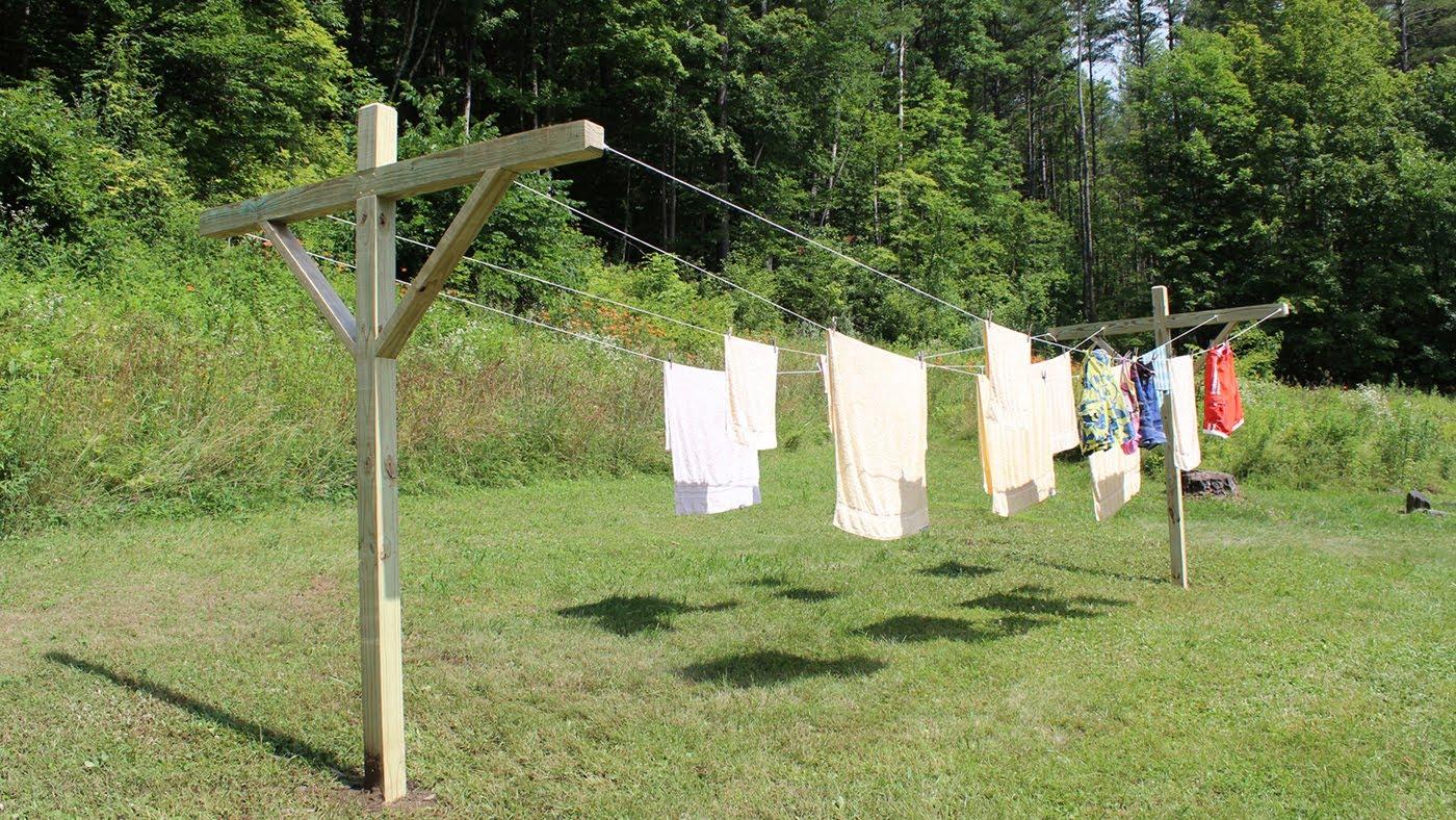 How to make – build a clothesline