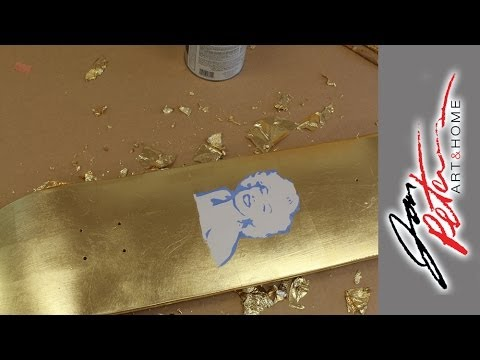 How to paint a Skateboard with Gold Leaf