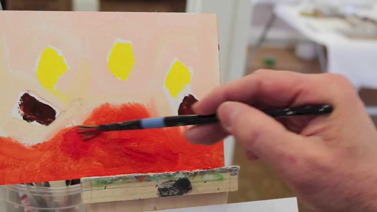 Intro to Painting, class #3. An introduction to Hans Hofmann