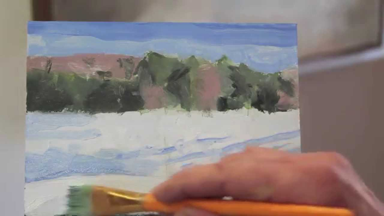 Intro to Painting, class 6.  Hay field, Vermont. 6/29/14