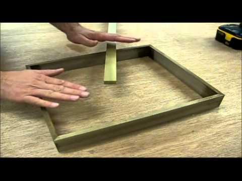 Make a solid walnut float frame