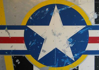 Sold $7,500 Convex Star #1 Enamel on aluminum. 2011 36 x 36