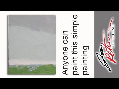Any one can paint this simple painting great for beginners