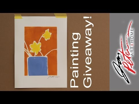 In the studio #3. Make a Simple Painting and an Art Giveaway!