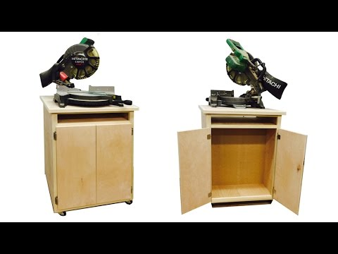 How To Build a Double Sided Chop Saw Cabinet – Part 1