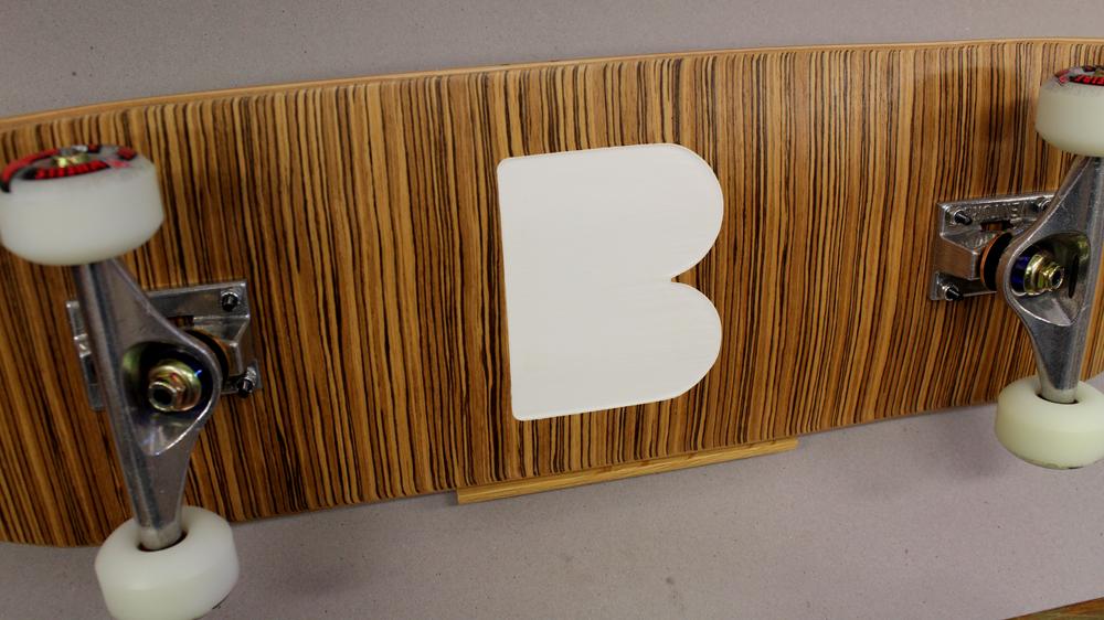 Make a BEME Logo Skateboard with Zebrawood Veneer