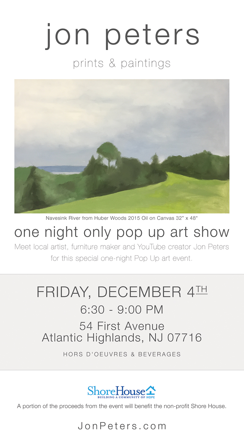 December 4th – Pop Up Art Show – Invite