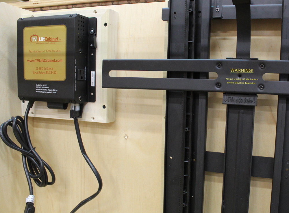 How To Build A Tv Lift Cabinet Design Plans Jon Peters