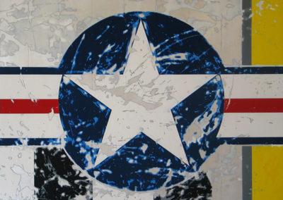$11,000-Star-A1,2010.-Enamel-on-aluminum-54-x-54