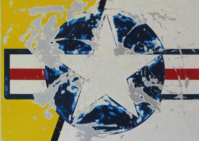 $6,500-Star-A2,-2010.-enamel-on-aluminum-36-x-36