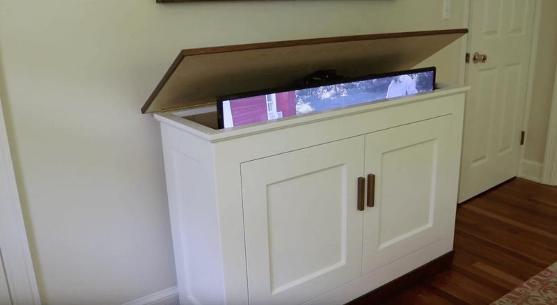 Build A Tv Lift Cabinet Free Design Plans