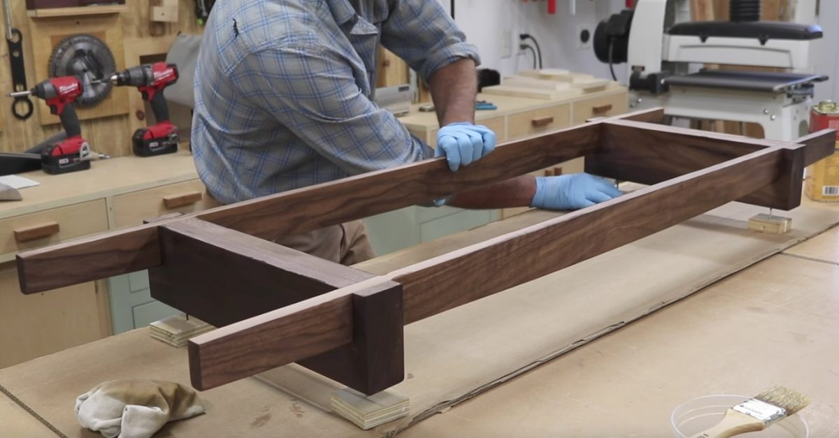 How to Make Lap Joints & Base for the Modern Cabinet Project