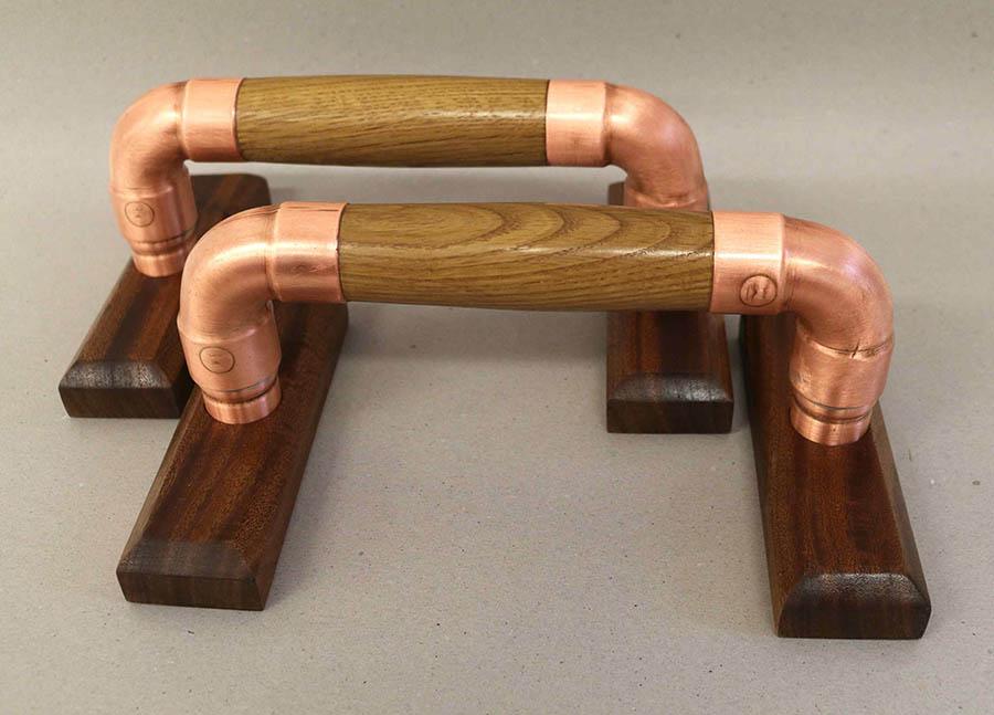 Wood & Copper Push-Up Bars – Free Design Plans