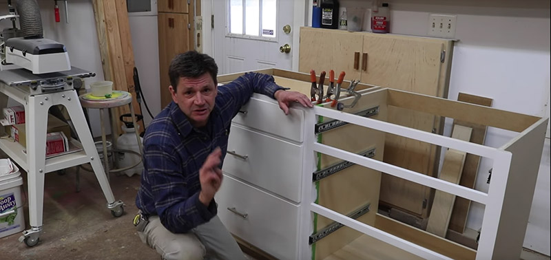 How to Scribe, Fit & Install Kitchen Pantry Cabinets