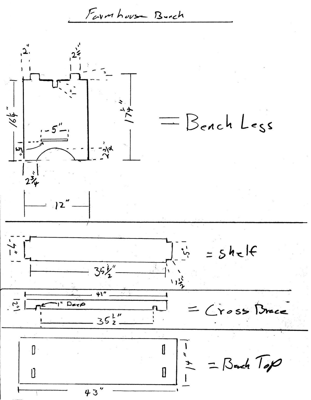 Bench Design Plans Longview Woodworking With Jon Peters