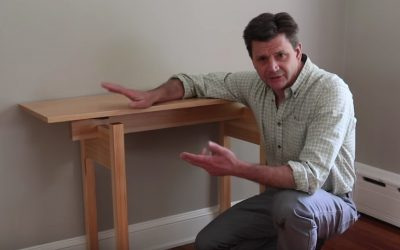 Make A Sofa Table with Floating Top – Free Design Plans