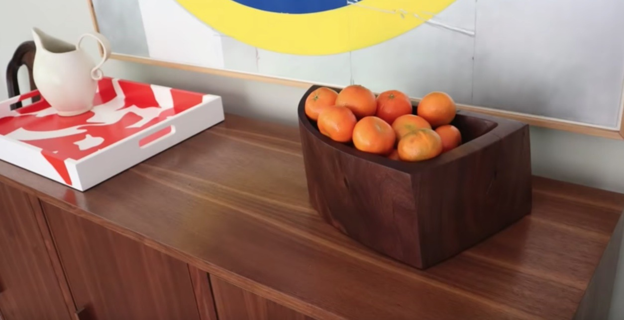 Carving a Modern Walnut Bowl