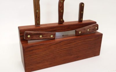 Make A Knife Holder – Brazilian Cherry with FREE PLANS