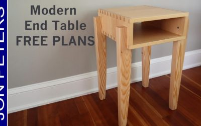 Modern End Table / Side Table – FREE DESIGN PLANS
